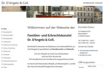 Screenshot von https://www.anwaltskanzlei-dangelo.de/