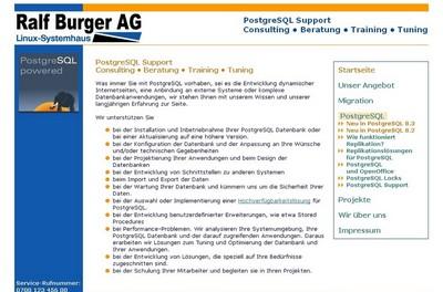 screenshot der Burger AG, http://burger-ag.de