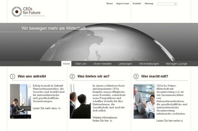 Screenshot der Seite http://ceos-for-future.de/