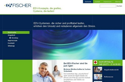 Screenshot der Seite https://www.edv-fischer.de/