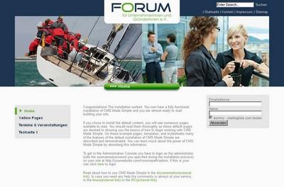 Screenshot der Seite http://www.forum-unternehmerinnen.de/ct/
