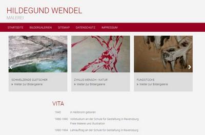Screenshot von http://hildegund-wendel.de