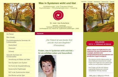 Screenshot der Website http://ilse-kutschera.de