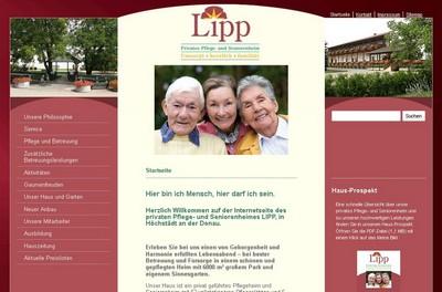 Screenshot der Seite http://pflegeheim-lipp.de/