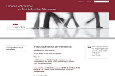 Screenshot der Seite http://annett-machts.de