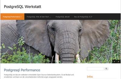 Bildschirmfoto der PostgreSQL-Werkstatt
